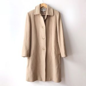 Vintage Light Camel Hair Long Coat